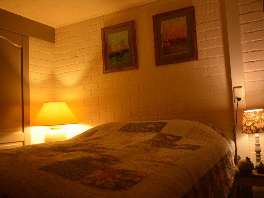 Bedroom ground floor, with bathroom