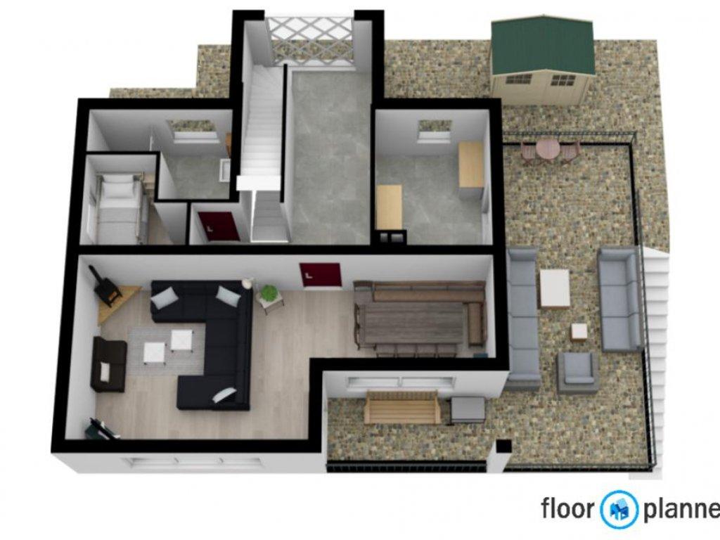 3d plattegrond 1ste verdieping